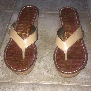 047ae2a06c4751 Sam Edelman Shoes - Sam Edelman Romy Wedges - Almond Patent